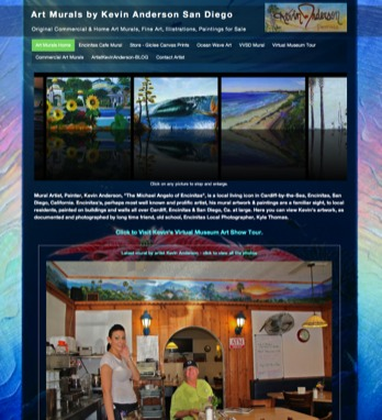 ArtMurals.us website - web design by Carlsbad Website Design